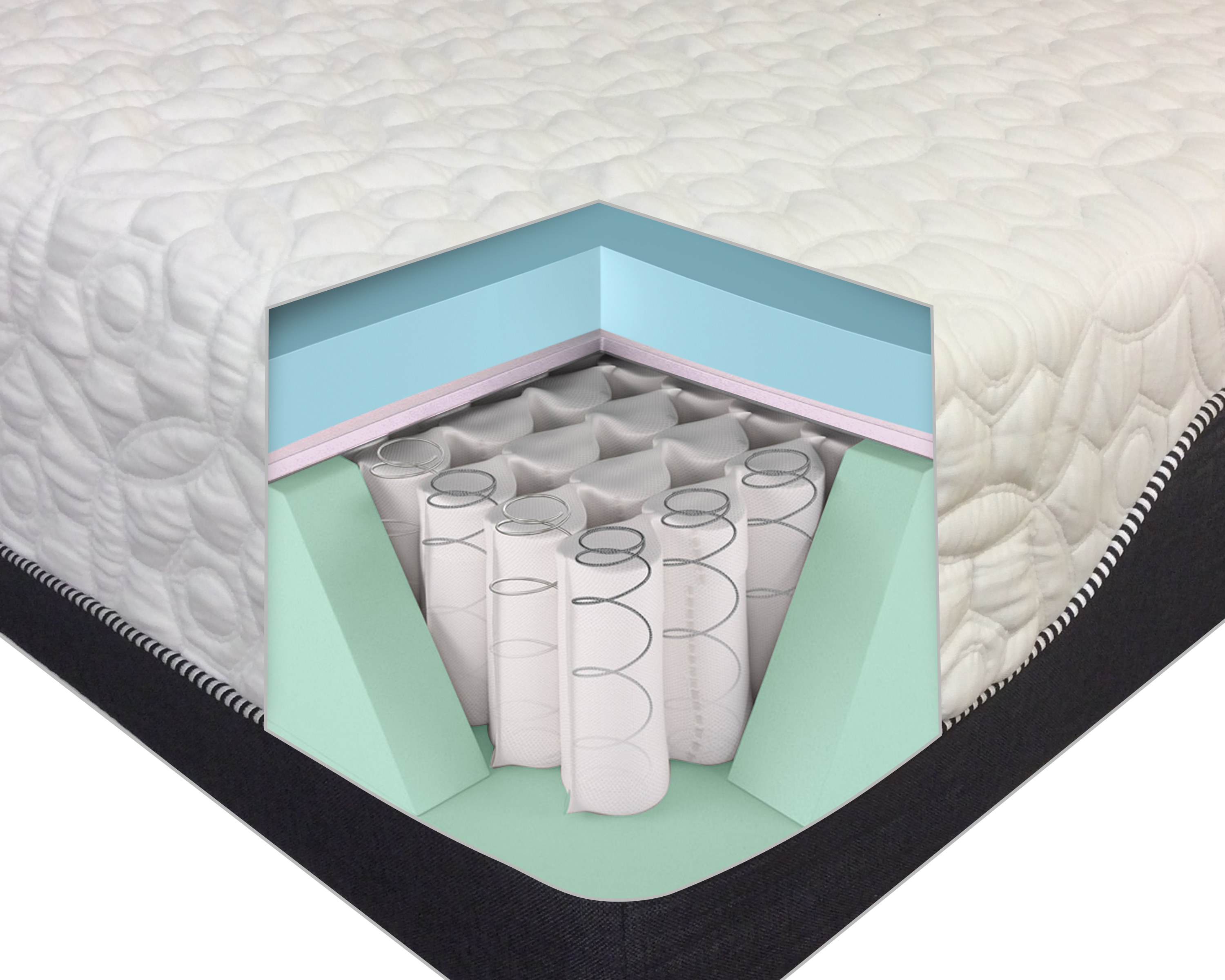 12 Inch Pocketed Coil Hybrid Mattress With Cool Gel Memory